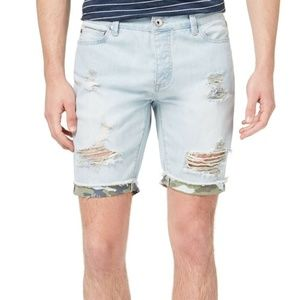 AMERICAN RAG BLUE DENIM DISTRESS SHORTS SIZE 31